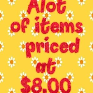 Other - Over 200 items priced at $8